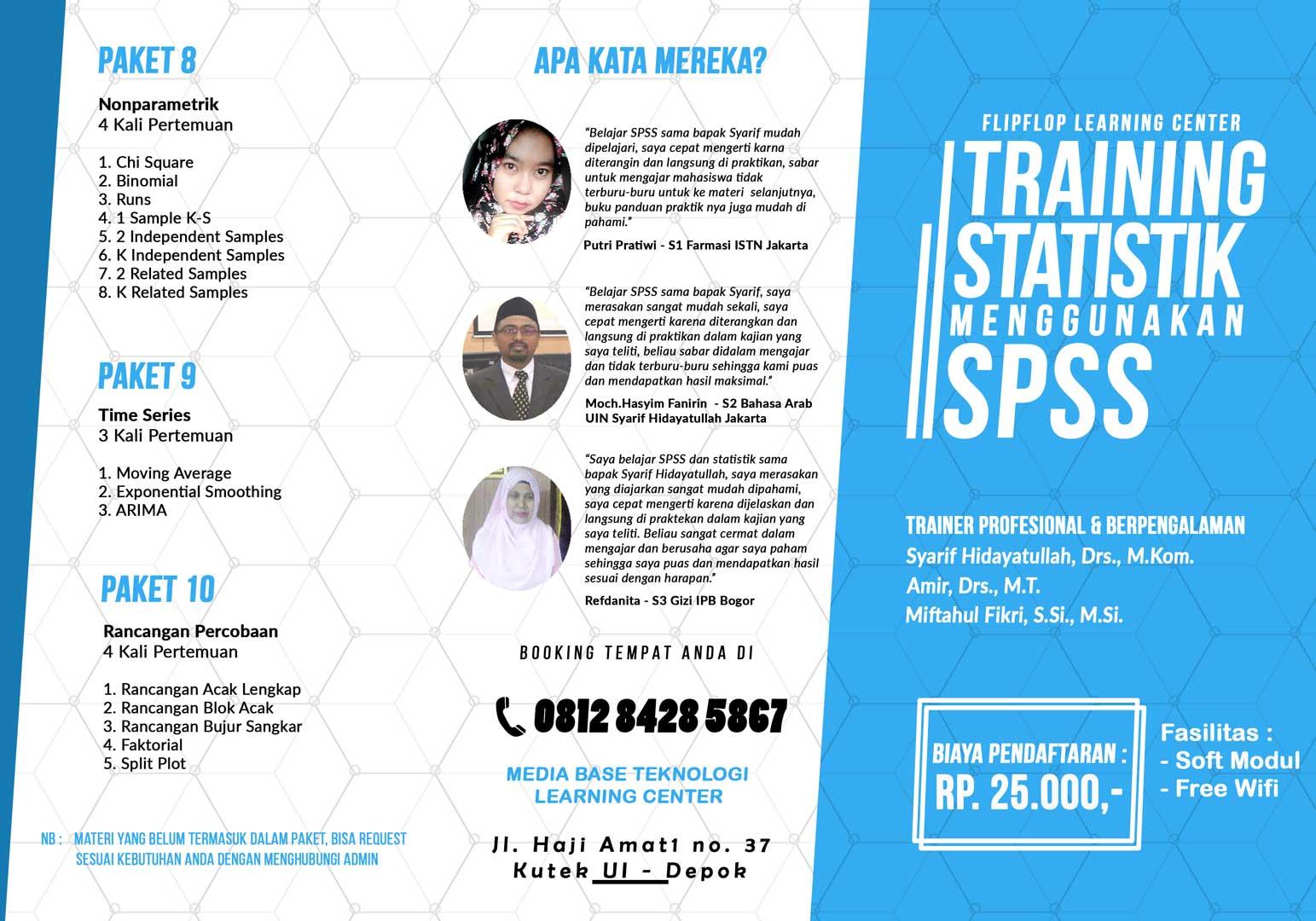 Training Stastistik Menggunakan SPSS